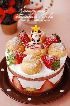 Cream Puff Strawberry Cake | Bakingschool.co.kr
