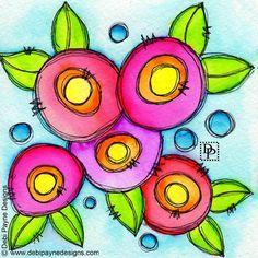 """Debi Payne Designs (@debipaynedesigns) on Instagram: """"Happy Doodle Flower Friday!"""