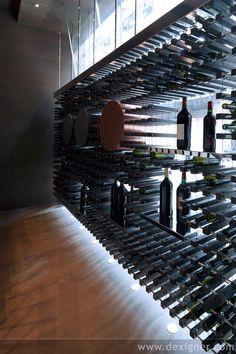 Altaya Etc Wine Shops, Hong Kong designed by Kokaistudios Wine Shelves, Wine Storage, Caves, Wine Cellar Design, Wine Design, Bar A Vin, Home Wine Cellars, Wine House, Architecture Design