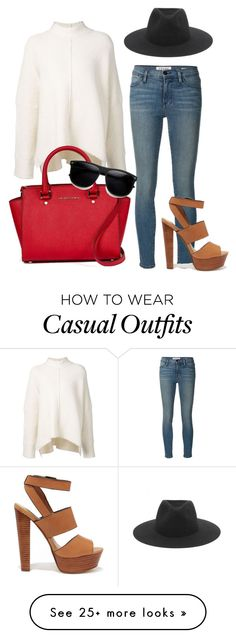 """casual outfit"" by abbygirly on Polyvore featuring Mode, URBAN ZEN, Frame Denim, Steve Madden und rag & bone"