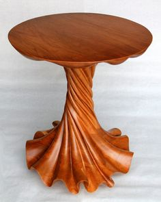 Cherry-wood table, carved.  Deviantart