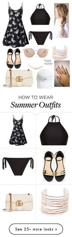 Summer Outfits : Beach Heat Wave Outfit by mireyaivettte on Polyvore featuring Alexis Bittar L