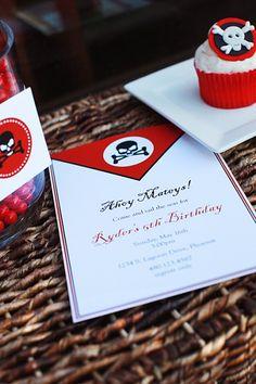 pirate party invitation :: the tomkat studio
