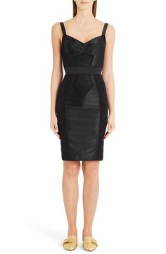 Main Image - Dolce&Gabbana Stretch Silk & Lace Bustier Dress