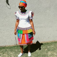 Pedi Queen... Pedi Traditional Attire, Sepedi Traditional Dresses, South African Traditional Dresses, Short African Dresses, African Fashion Dresses, African Print Fashion, African Prints, Shweshwe Dresses, African Design