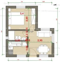 Small Floor Plans, Small House Plans, House Floor Plans, Autocad Layout, Casa Loft, Studio Apartment Layout, Weekend House, Tiny Apartments, Garage Makeover