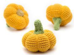1 Pcs Crochet pumpkin crocheted vegetables teether teeth