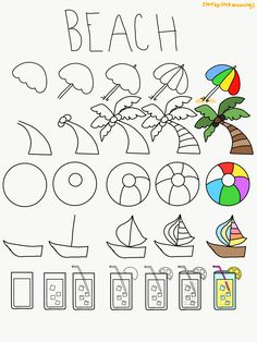 Doodle Art For Beginners, Bullet Journal For Beginners, Bullet Journal Hacks, Bullet Journal Notebook, Bullet Journal Themes, Doodle Doodle, Doodle Drawings, How To Doodle, Bullet Journal Layout Templates