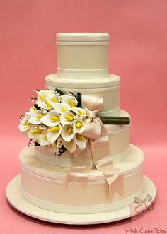Lily of the Valley Wedding Cake from Pink Cake Box