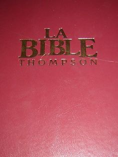 La Bible Thompson / Avec Chaine de references / Version Louis Segond revisee $135 Thompson Chain Reference Bible, French Language, Languages, French People, French