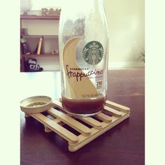 Popsicle stick coasters to look like pallet boards