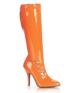 Orange 5 Inch High Heel Knee High Boot - 8 $48