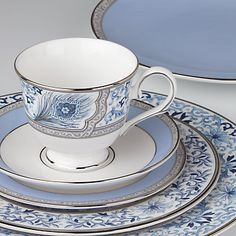 Marchesa Couture Sapphire Plume 5-piece Place Setting by Lenox