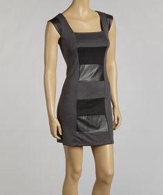 Take a look at this Gray & Black Color Block Sleeveless Dress by Madison Paige on #zulily today!