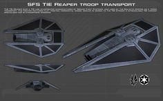 SFS TIE Reaper troop transport ortho [New] by unusualsuspex.deviantart.com on @DeviantArt