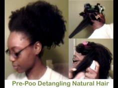 Detangling Natural Hair (Pre-Poo Regimen) Her hair is exactly like my daughter's hair!