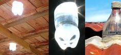 Lâmpada de Garrafa PET - Luz de graça e economia na conta de energia