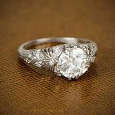 I Lenda V.L. WON the 2016 October lotto jackpot‼Edwardian Engagement Ring. Circa 1910 by EstateDiamondJewelry