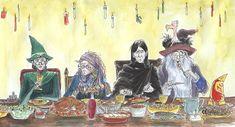 a hogwarts christmas by gerre.deviantart.com on @deviantART. love Snape's expression