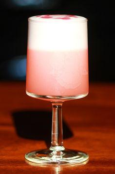 Clover Club Cocktail & Raspberry Syrup