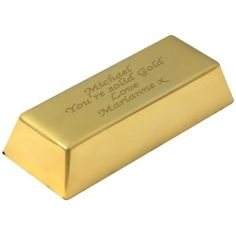 Engraved Gold Plated Ingot Desk Paperweight  from Personalised Gifts Shop - ONLY £29.99