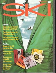Ski Magazine Oct 1975 Lift Passes on zipper - It was way cool to show off the number of times you went skiing that season! Ski Usa, Ski Magazine, Jackson Hole Wyoming, Park City Utah, Alpine Skiing, Crested Butte, T Shirt Photo, Vintage Ski, Ski Boots