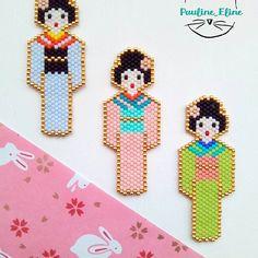 """Décidément le thème de #miyukivoyageenasie (catégorie design) m'inspire! Voici donc ma deuxième participation au super challenge de @teaforyoubijoux @perlesandco et @petit_bout_de_chou_hk .J'ai décidé de faire une geisha, mais version plus petite que la dernière. J'ai un petit faible pour la rose """"sakura""""... #jenfiledesperlesetjassume #perlesandco #miyukibeads #miyuki #geisha #japan #japon #brickstitch #motifpauline_eline #perleaddict #perles #beadwork #bead"""