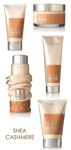 Shea Cashmere from the Body Wash to the Body Butter, leaves my dry skin well moisturized and smelling great.