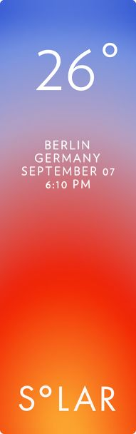 Berlin weather has never been cooler. Solar for iOS.