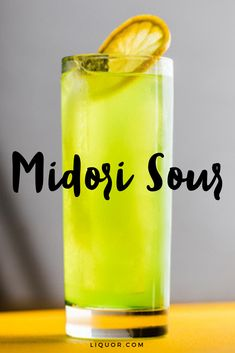 The Midori Sour is a sweet and refreshing cocktail thats perfect for parties. Combine midori and vodka to make this delicious, easy to make summer cocktail. Midori Cocktails, Refreshing Cocktails, Easy Cocktails, Vodka Cocktails, Whiskey Drinks, Wine Drinks, Cocktail Drinks, Cocktail Recipes, Beverages