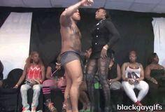 #bigbulge sexy muscle thickums black male stripper Hollywood… #sexyblackmen #bulge #hugebulge