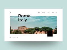 Italy designed by Clément Gérard. Connect with them on Dribbble; the global community for designers and creative professionals. Portfolio Layout, Portfolio Design, Web Layout, Layout Design, Graphic Design Typography, Branding Design, Modern Web Design, Design Web, Travel Website Design