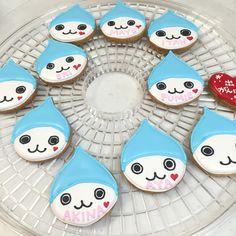 ぴちょんくん Icing, Cookies, Desserts, Food, Crack Crackers, Tailgate Desserts, Deserts, Biscuits, Essen
