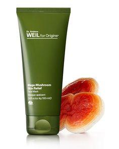Face Mask || Dr. Andrew Weil for Origins Mega Mushroom Skin Relief- Mask (sensitive skin & rednessfor dry,normal,oily skin)
