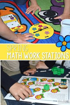 Math work station or center activity for kindergarten. Fun games that keep students learning.
