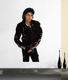 """MICHAEL JACKSON Bad LARGE STICKER Cut-out Display 44"""" Wall Door DECAL NEW Poster - http://www.michael-jackson-memorabilia.com/?p=15323"""
