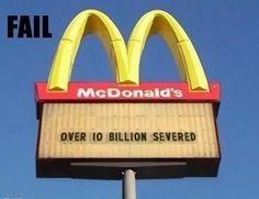 Over 10 billion severed...