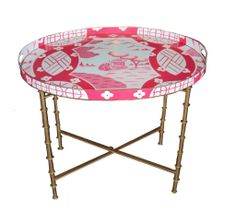 Canton in Pink Tray Table