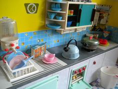 Tin toy kitchen - I had and still have one of these!
