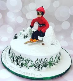Ski theme birthday cake!  by Seema Tyagi