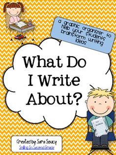 What Do I Write About? - journal ideas that the kids make at the beginning of the school year