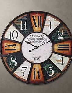 """H24"""" Country Style Metal Square Wall Clock – AUD $ 82.79"""