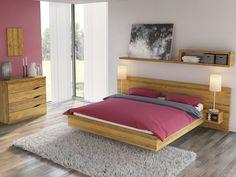 """Eichenschlafzimmer mit Eichenbett """"Alexandra"""" mit Gravur"""