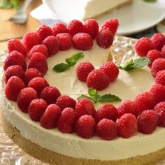Cheesecake sin Hornear Number Cakes, Sweet Desserts, Sin Gluten, Mini Cakes, Cake Designs, Raspberry, Bakery, Food And Drink, Fruit