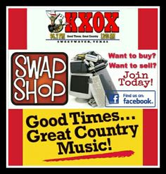 Buy, sell, trade, announce garage sales, auctions, do giveaways! All on KXOX's Swap Shop week days at 10:30am! Remember NO pet breeders, job seekers, business calls or firewood sales please. And be sure to check out our new KXOX Swap Shop Group Page to post your items as well!