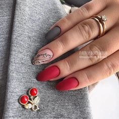Nails Design Red Nailart Manicures Ideas For 2019 Matte Nails, Pink Nails, Red Nail Designs, Art Designs, Trendy Nail Art, Super Nails, Nagel Gel, Gel Nail Art, Manicure And Pedicure