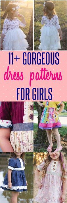 dress patterns for girls | a line dress | little girls dresses | sewing patterns for girls