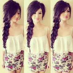 Messy braid... my hair is soooo not this long but this is beautiful... maybe I could modify for my length?
