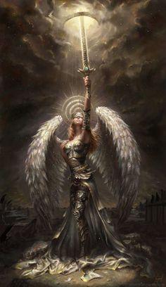 Ángel guerrera