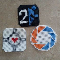 Portal coasters perler beads by  beefjelly
